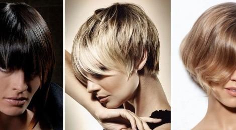 Kratke frizure za okrogel obraz